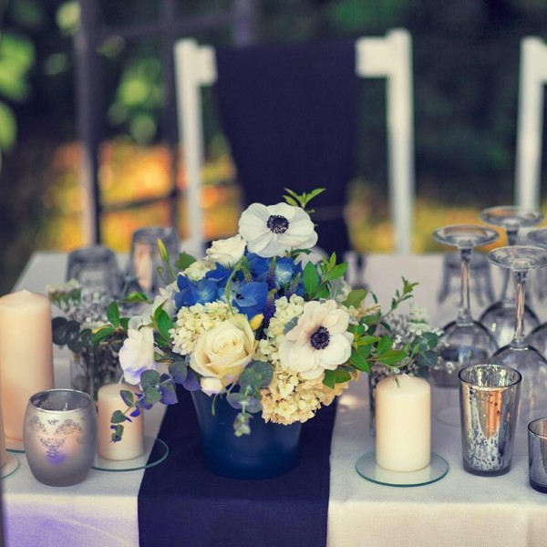 Wedding in blue Navy